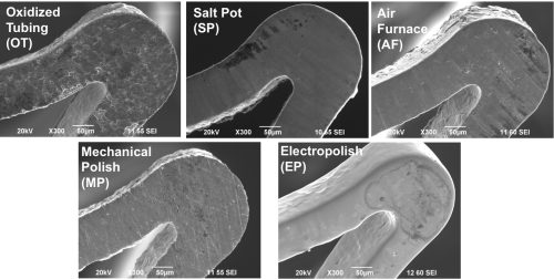 FDA Study on the Effects of Oxide Layer Thickness and Composition on Corrosion in Nitinol Medical Devices